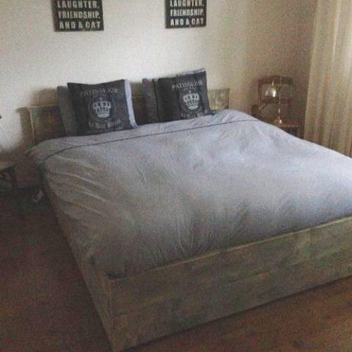 Afbeelding Beuckenroode tweepersoonsbed in slaapkamer